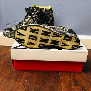DKNY Cindy Printed Bandana Heeled Sneaker